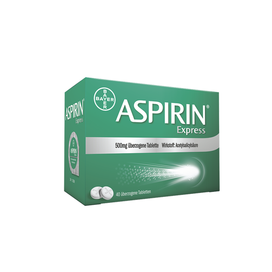 Picture of Aspirin® Express 500 mg überzogene Tablette 40Stk.