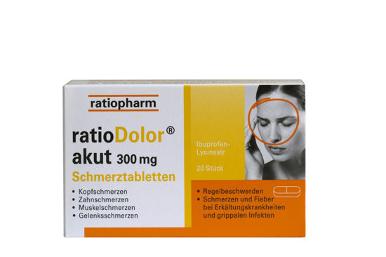 Picture of ratioDolor akut® 300 mg 20Stk.