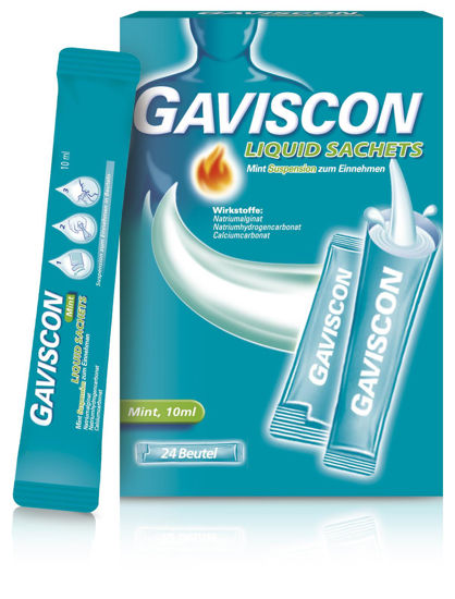 Picture of Gaviscon Liquid Mint Suspension 24 Beutel
